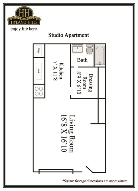 Apartments For Rent With Floor Plans by Studio Apartments For Rent Hyland Hills Apartments