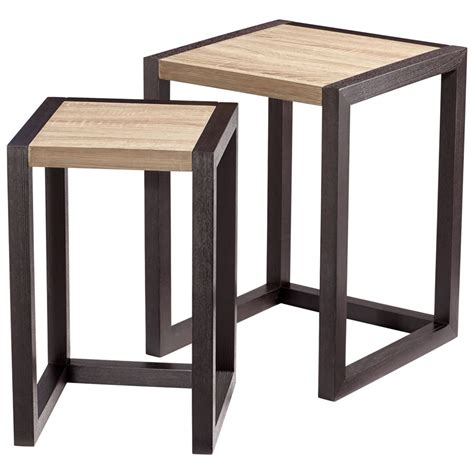 top 28 becket wood nesting tables by woodland imports