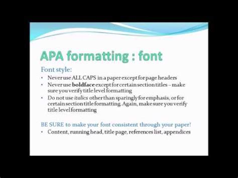 Apa Formatting Powerpoint Presentation Youtube Formatting A Powerpoint Presentation