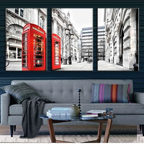 libro street art london aliexpress com buy 3 pcs set landscape london red telephone booth wall art modern london