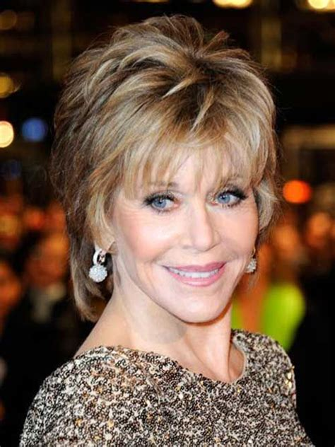 easy hairstyle for 70 year old lady jane fonda short haircuts for older ladies haircuts