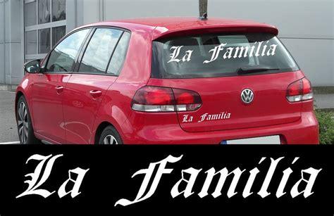 Länder Aufkleber Auto Italien by La Familia Aufkleber Sticker Auto Heckscheibe Tuning
