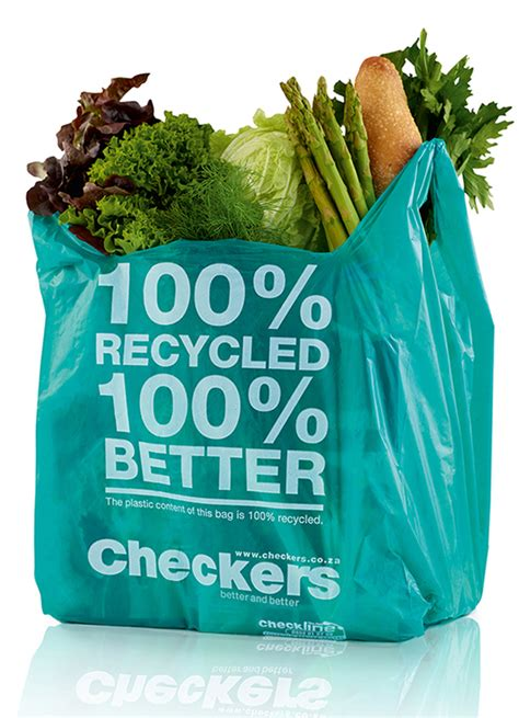 Checkers Bag checkers wins gold for 100 recycled carrier bag
