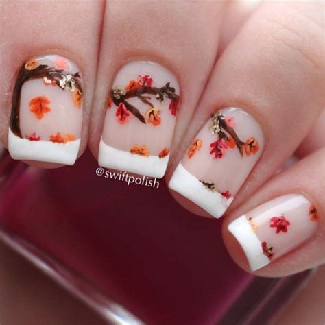 easy nail art leaf 35 leaf nail art ideas nenuno creative