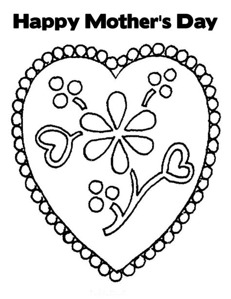 free coloring pages happy mothers day coloring pages