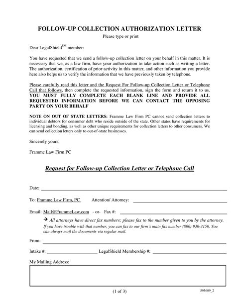 follow collection letter templates