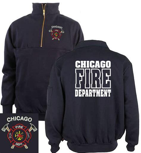 Hoodie Sweater Hatchet Black Front Logo Chicago Department 1 4 Zip Pullover Sweatshirt W