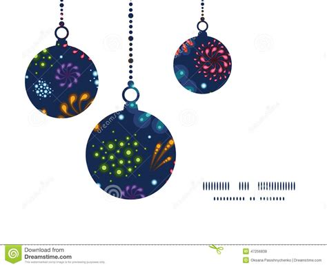 Card Ornaments Template by Vector Fireworks Ornaments Stock Vector