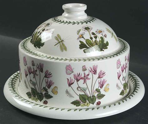 Portmeirion Botanic Garden Christmas Rose Cheese Dome With Botanic Garden Dishes Portmeirion