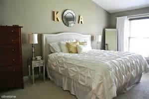olive master bedroom update gold white