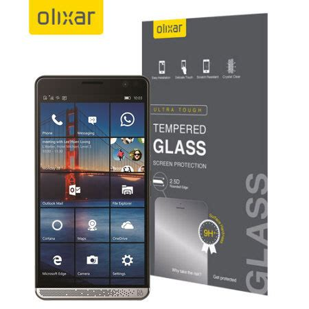 Tempered Glass Hp Olixar Hp Elite X3 Tempered Glass Screen Protector Black