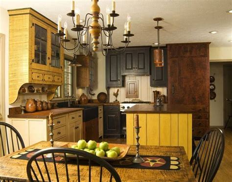 48 best primitive colonial kitchens images on