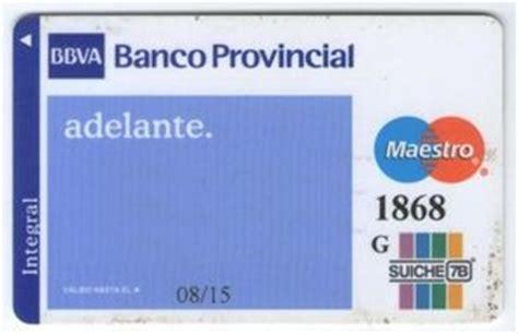 codigo 0081 banco tarjeta de banco bbva banco provincial adelante banco