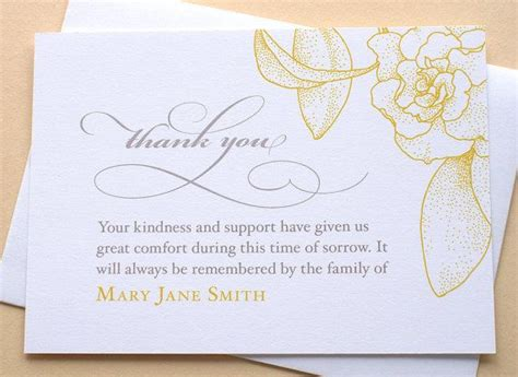 funeral greeting card template for lightroom 25 best images about funeral thank you notes on