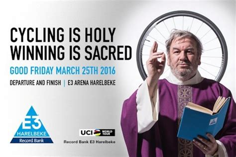 e3 harelbeke 2016 forgoes the sexist poster in favour of a