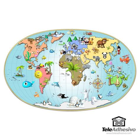 wall stickers world map world map