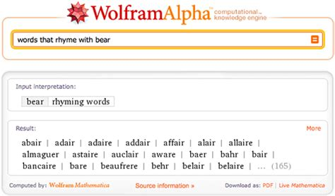 words that rhyme with house 10 fun questions kids can answer with wolfram alpha wolfram alpha blog