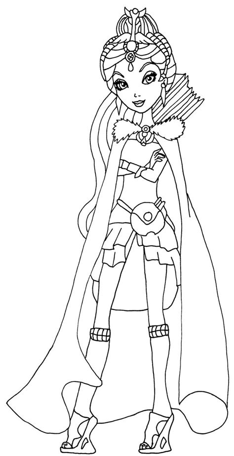 ever after high halloween coloring pages legacy day raven by elfkena on deviantart