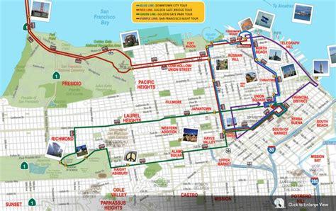 san francisco map sights san francisco map of attractions celebrating 25