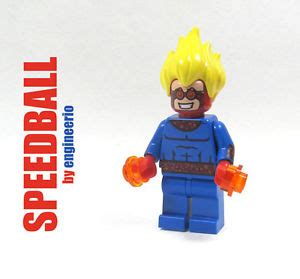 lego kw blazing skull marvel superheroes minifigure lego custom speedball marvel heroes mini figure