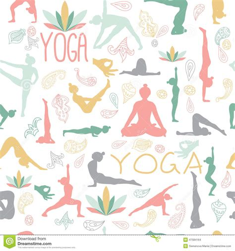 yoga pattern vector yoga pattern stock vector image of lotus extended