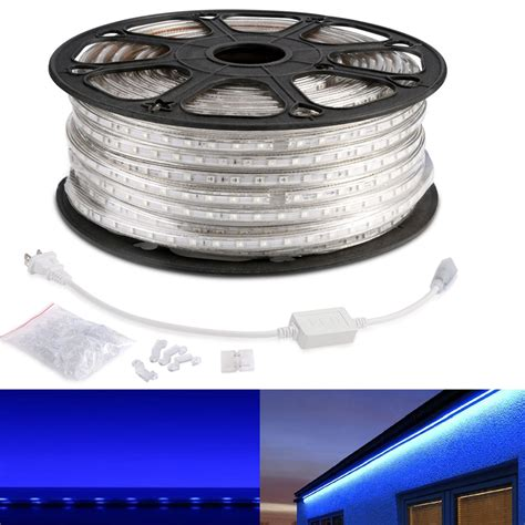 Led Outdoor Lighting Strips 110v Waterproof Led Strips Blue 5050 Led Outdoor Lights Le 174
