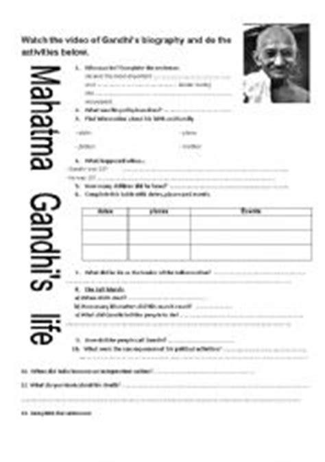 mahatma gandhi biography english pdf english worksheet mahatma gandhi 180 s life