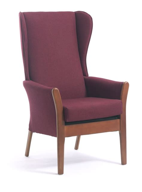 high backed armchair dalton high back armchair with wings cfs contract