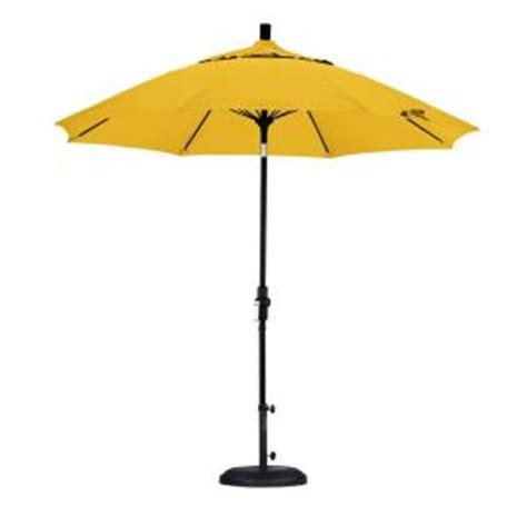 yellow patio umbrella california umbrella 9 ft fiberglass collar tilt patio