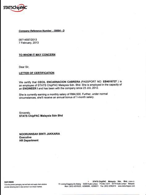 Employment Undertaking Letter Nurfaiznum Mohd Chik Cvb110718659 February 2013