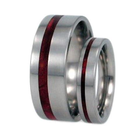 redwood wood titanium rings titanium wedding band set