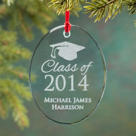personalized glass graduation ornament christmas
