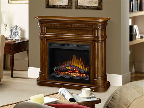 Electric Fireplace Packages by Charleston Electric Fireplace Mantel Package In Burnished