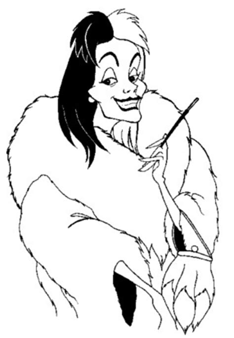 cruella deville coloring pages