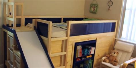 ikea tuffing bunk bed hack ikea hack makes for most awesome kids bed ever