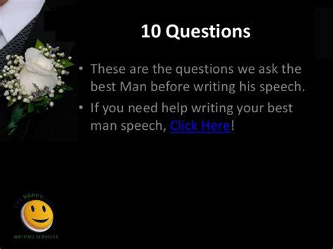 Setlock best man speech