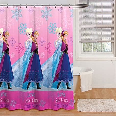 disney fabric shower curtain disney 174 frozen snowflakes fabric shower curtain bed bath