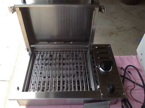 boat grill propane tank oci stainless steel propane grill 22 quot wide regal sea ray
