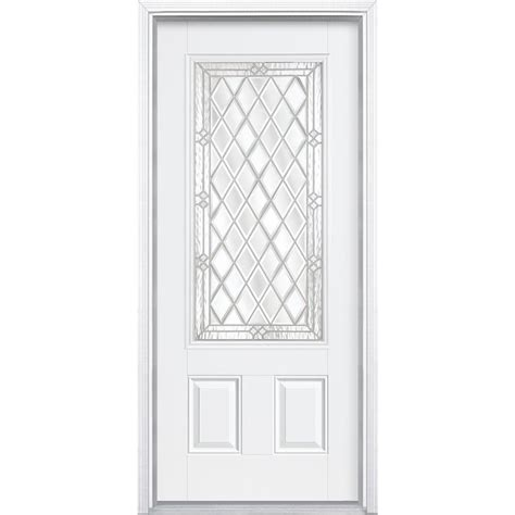 I Door by Masonite 36 In X 80 In Halifax 3 4 Rectangle Lite Primed