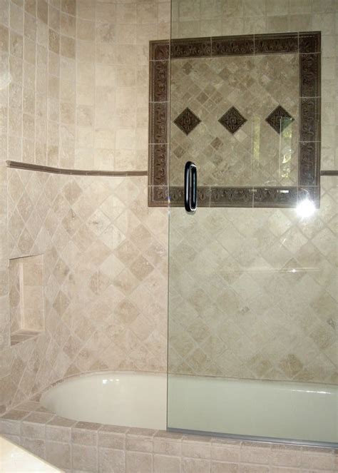 Tile Bathtub Shower Combo by Tub And Tiled Shower Combo Showers And Bathtubs Tub