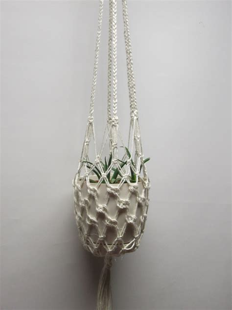 Macrame Hanging Planter - cotton macrame plant hanger hanging planter 30 inches 15 mm