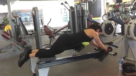 ab oblique cardio workout using the rowing matchine