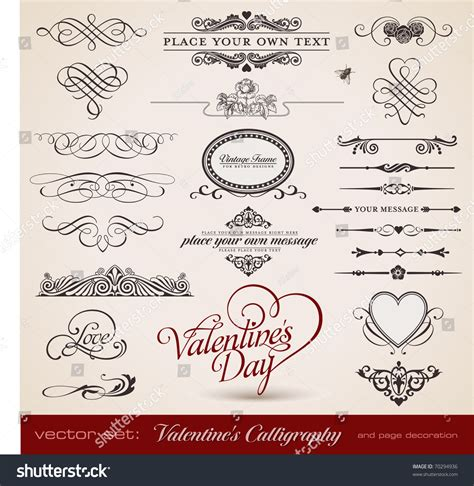 shutterstock design elements and layout vector pack vector set calligraphic design elements page stock vector