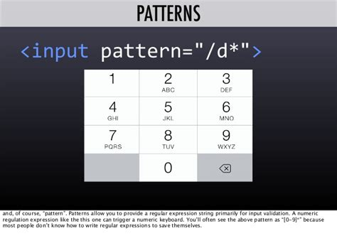 html input pattern numbers only validating forms and more with the html5 pattern attribute