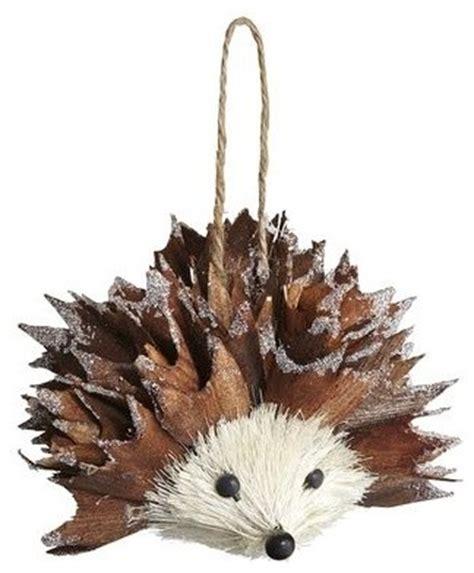 natural hedgehog ornament contemporary christmas