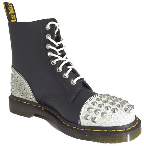 doc martens boots dr doc martens 1460 dai white black cristal leather boots