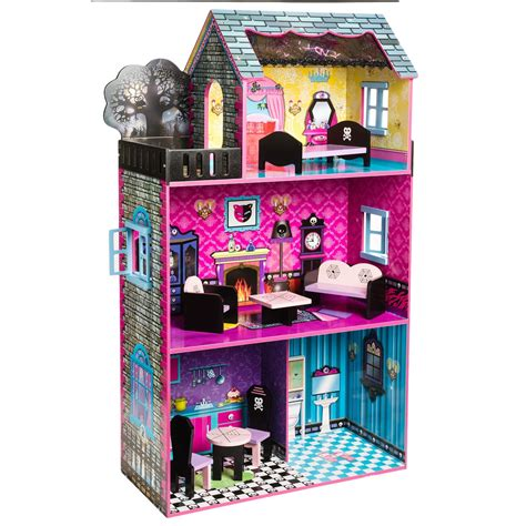 monster doll house teamson haunted monster doll house and furniture in see image