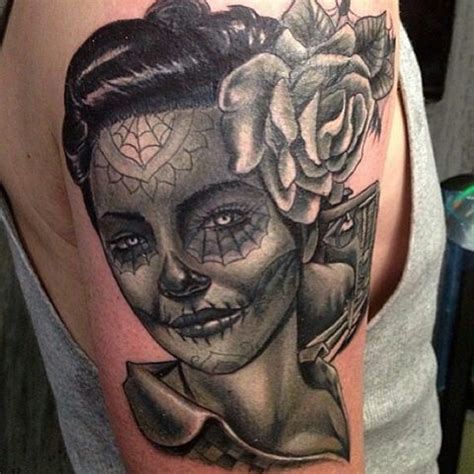 Tattoo Nightmares Pics | dia de los muertos tattoo by big gus of tattoo nightmares