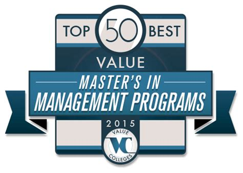 best masters in management programs best value master s in management degree programs ranking