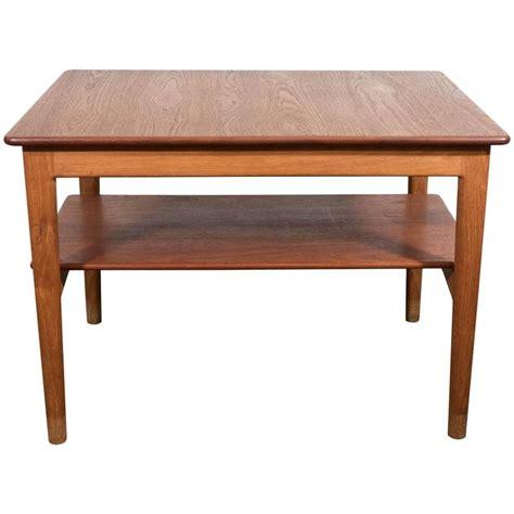 Scandinavian Table L by Scandinavian Modern Teak Side Table With Shelf By Johannes